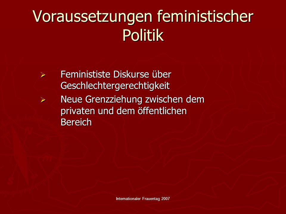 Voraussetzungen feministischer Politik