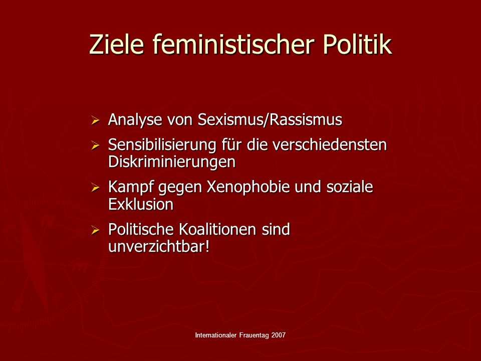 Ziele feministischer Politik