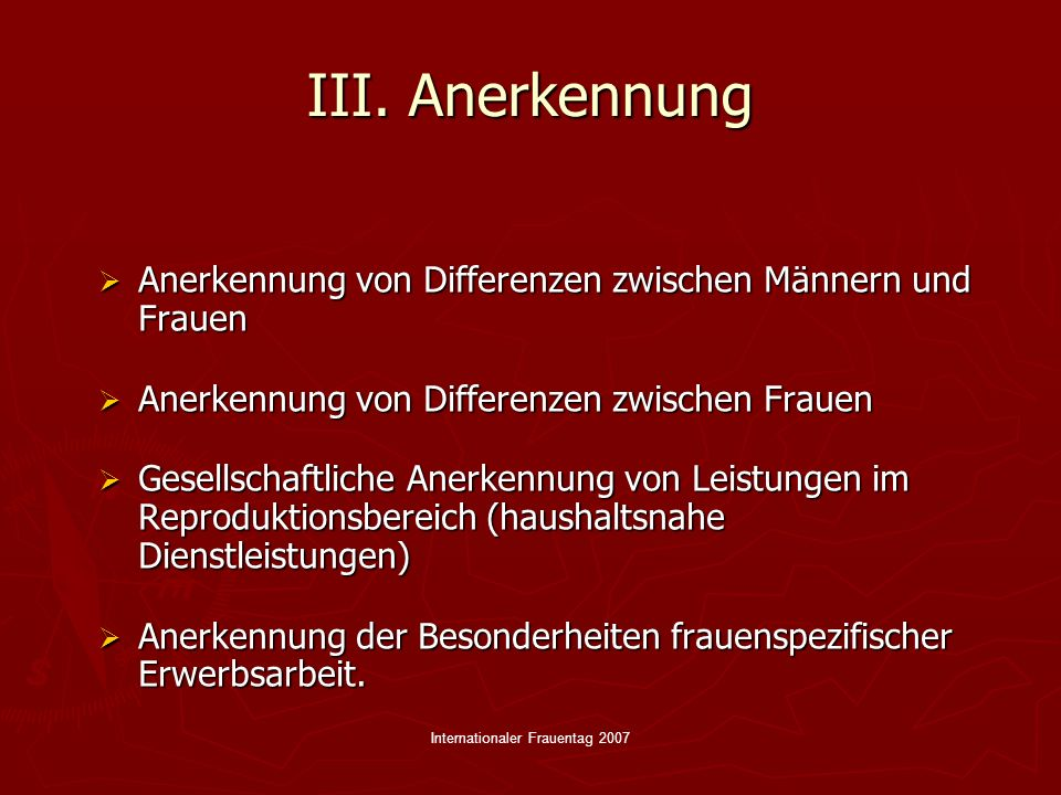 Internationaler Frauentag 2007