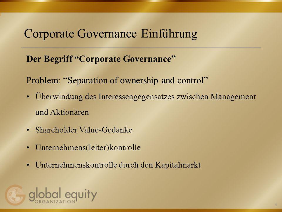 Corporate Governance Einführung