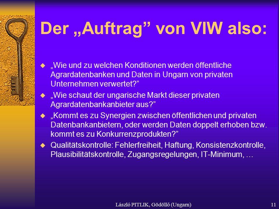 """Der """"Auftrag von VIW also:"""