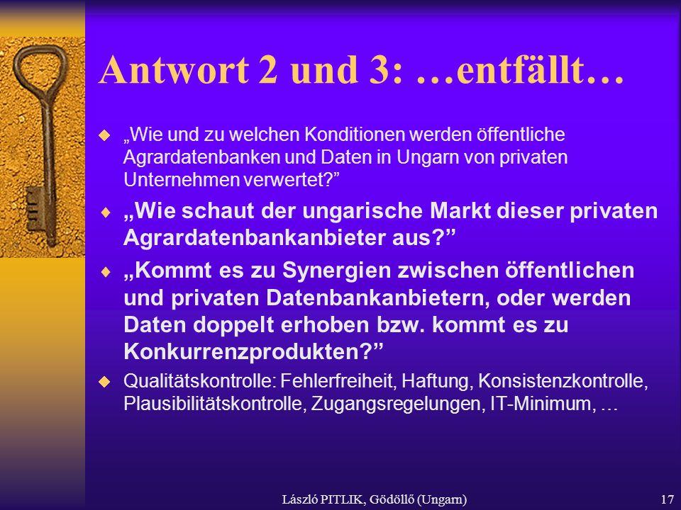 Antwort 2 und 3: …entfällt…