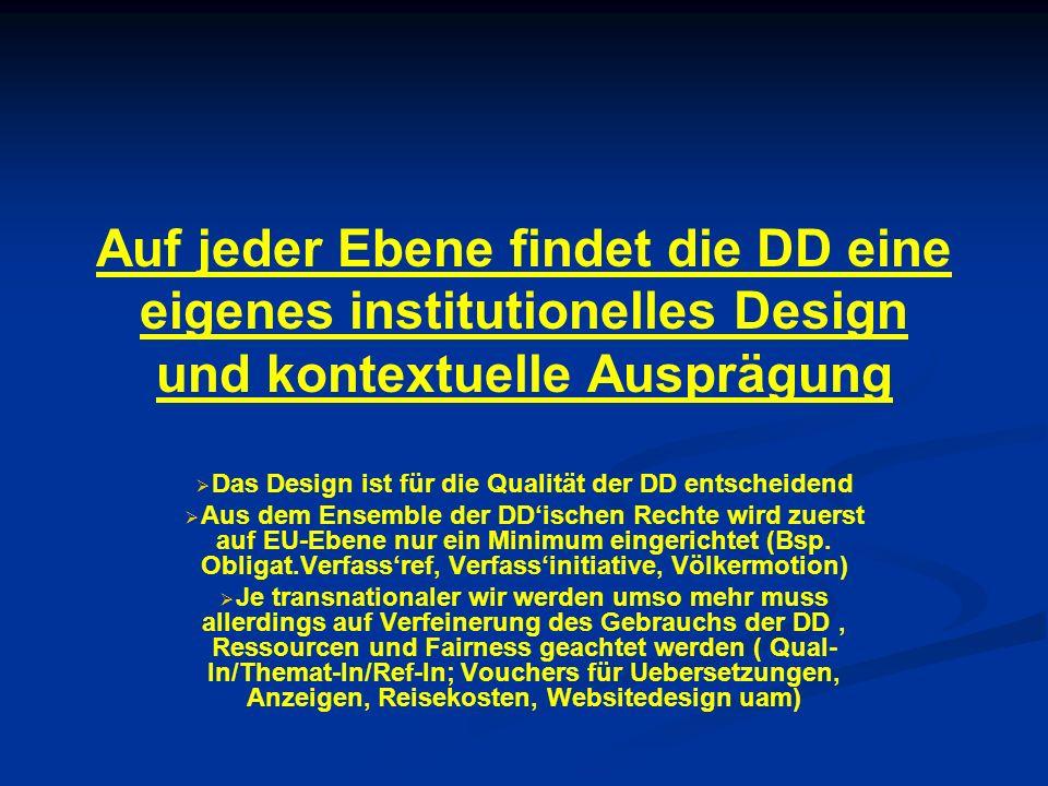 Das Design ist für die Qualität der DD entscheidend