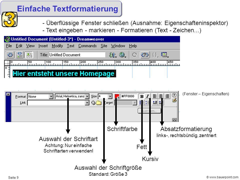 Einfache Textformatierung
