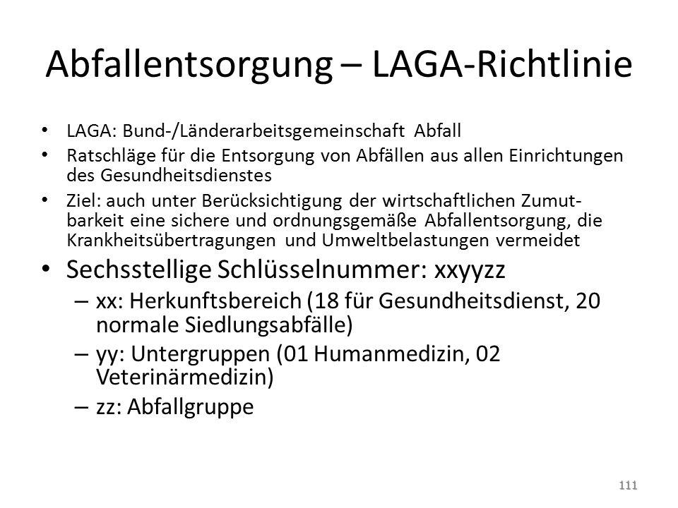 Abfallentsorgung – LAGA-Richtlinie