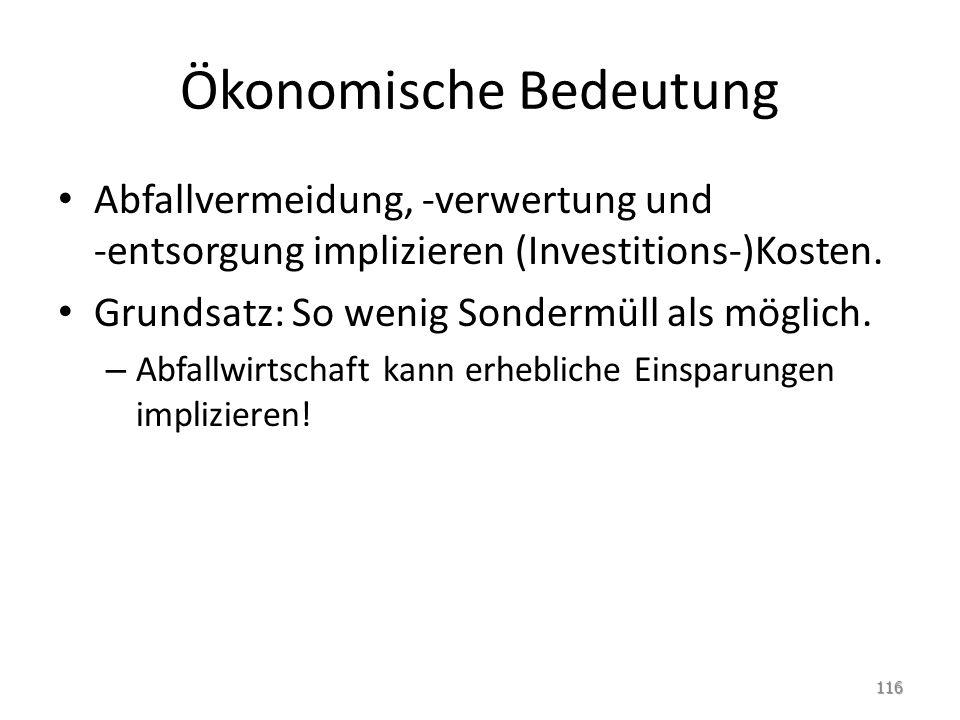 Ökonomische Bedeutung