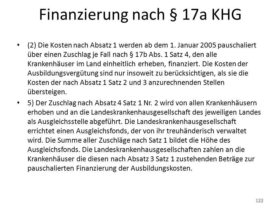 Finanzierung nach § 17a KHG