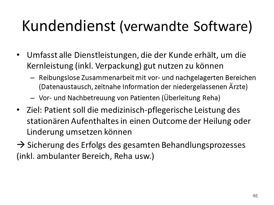 Kundendienst (verwandte Software)