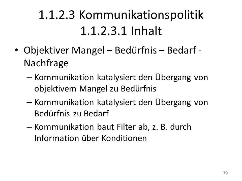 1.1.2.3 Kommunikationspolitik 1.1.2.3.1 Inhalt