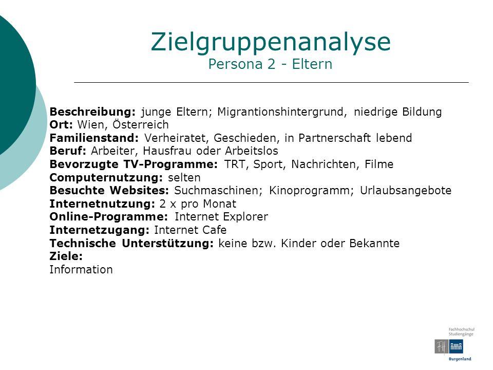 Zielgruppenanalyse Persona 2 - Eltern