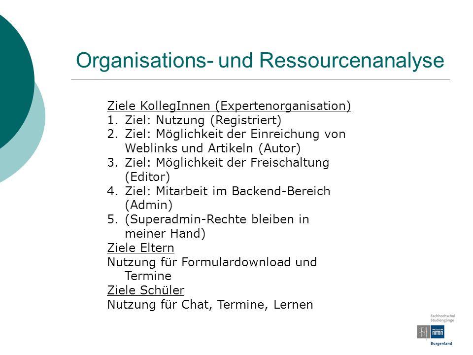 Organisations- und Ressourcenanalyse