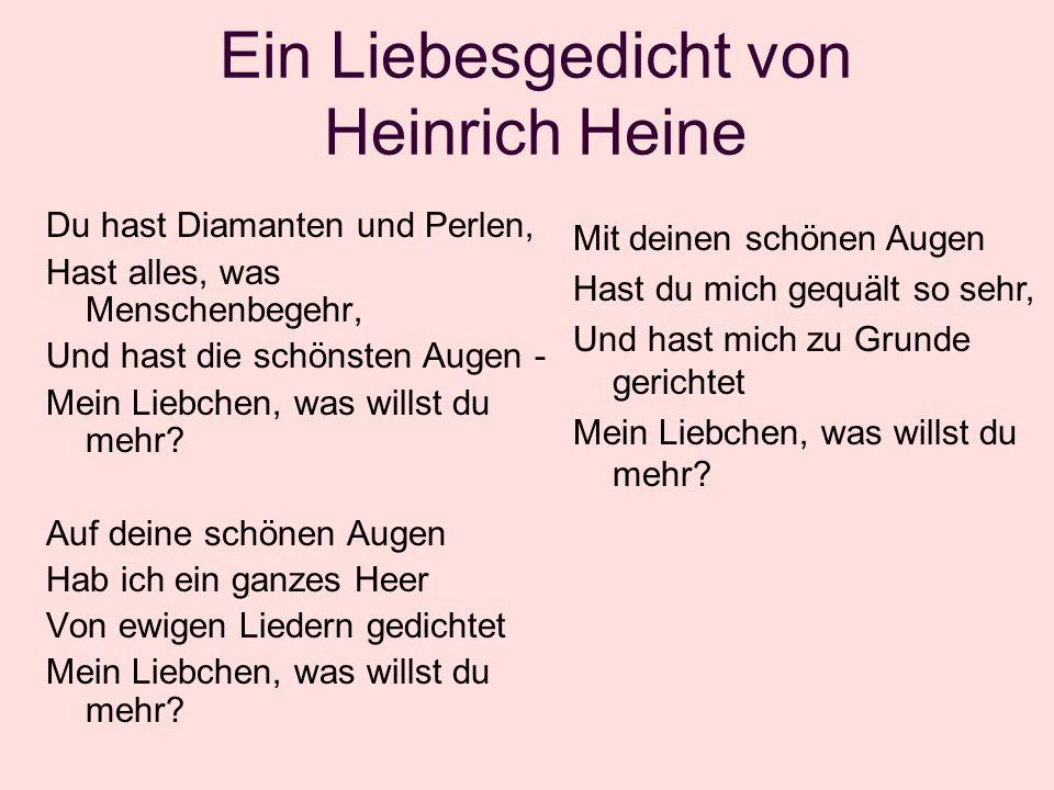 Ein Liebesgedicht von Heinrich Heine