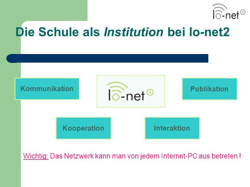 Die Schule als Institution bei lo-net2