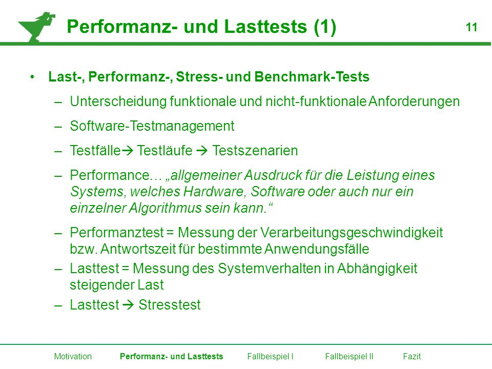 Performanz- und Lasttests (1)