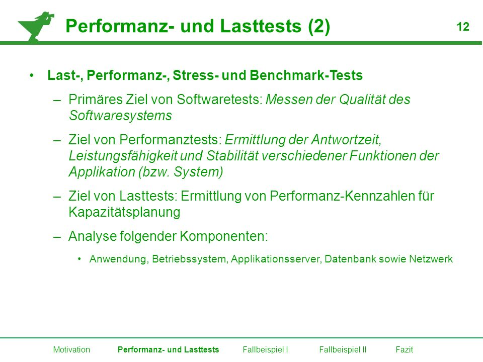 Performanz- und Lasttests (2)