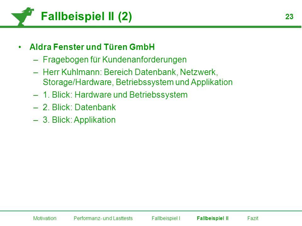 Fallbeispiel II (2) Aldra Fenster und Türen GmbH