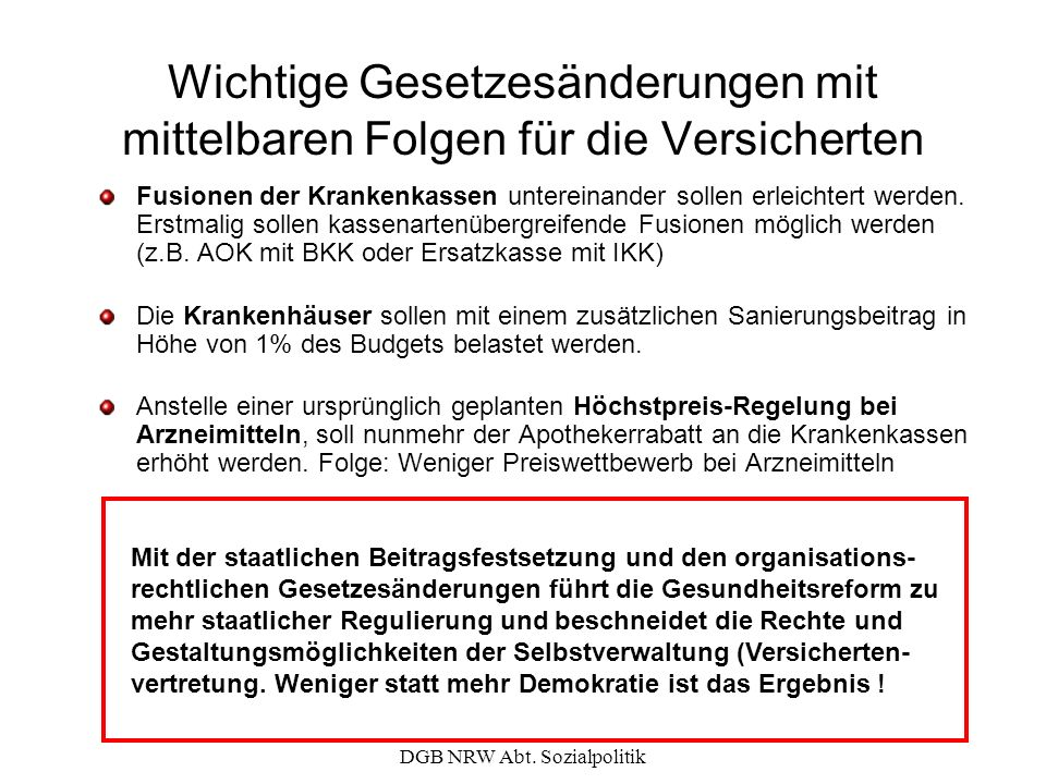 DGB NRW Abt. Sozialpolitik