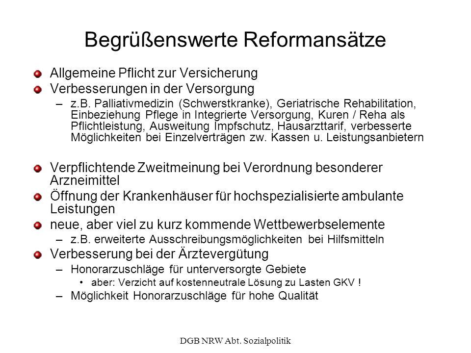 Begrüßenswerte Reformansätze