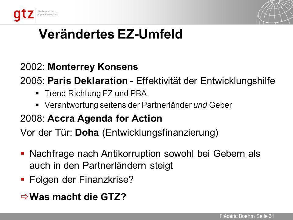 Verändertes EZ-Umfeld