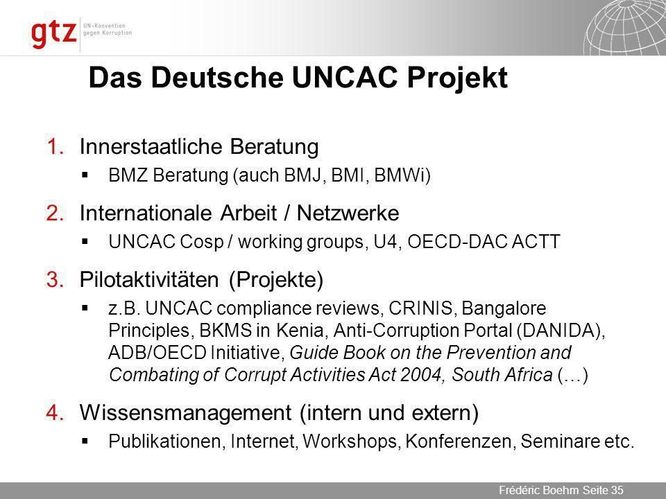 Das Deutsche UNCAC Projekt