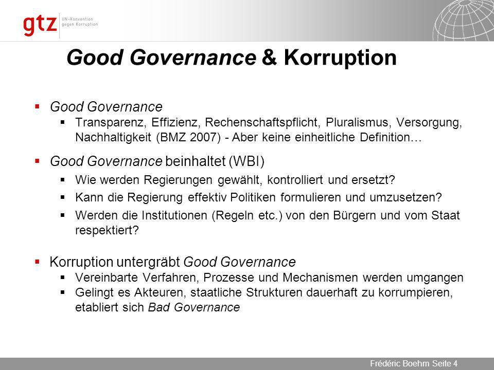 Good Governance & Korruption