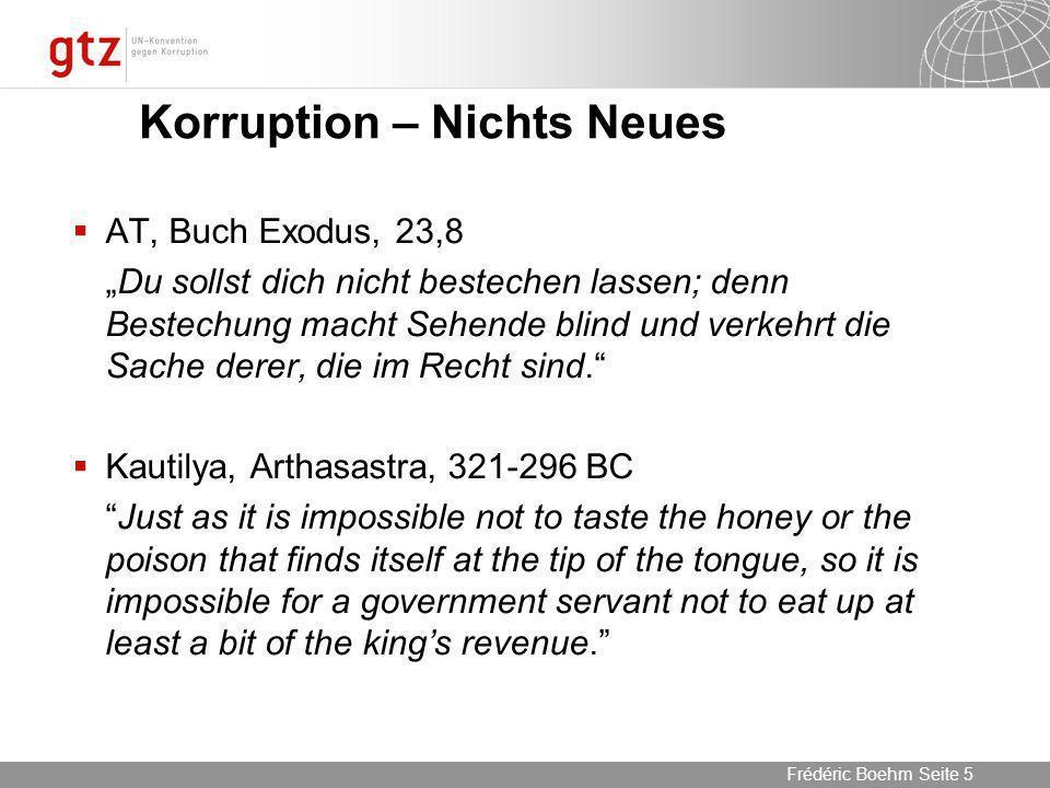 Korruption – Nichts Neues