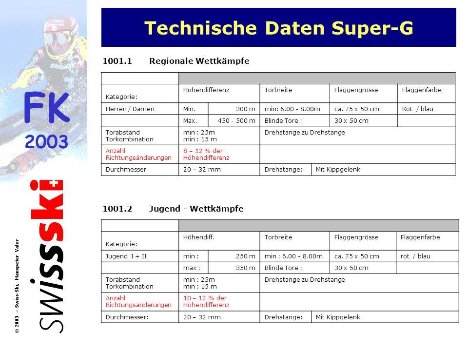 Technische Daten Super-G