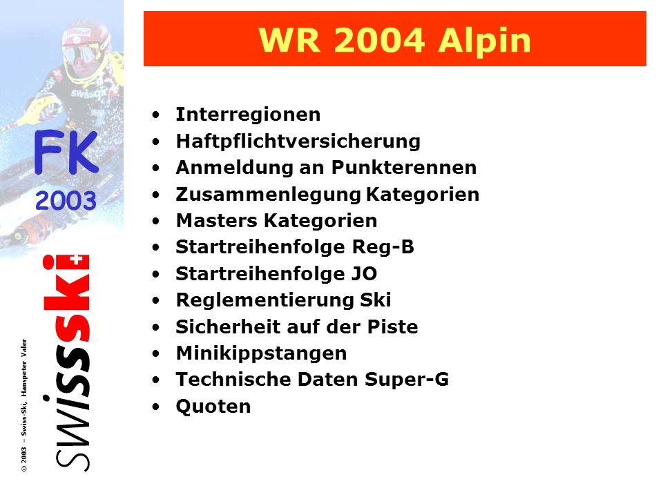WR 2004 Alpin Interregionen Haftpflichtversicherung