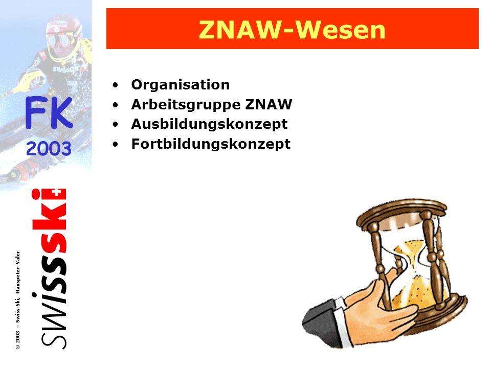 ZNAW-Wesen Organisation Arbeitsgruppe ZNAW Ausbildungskonzept