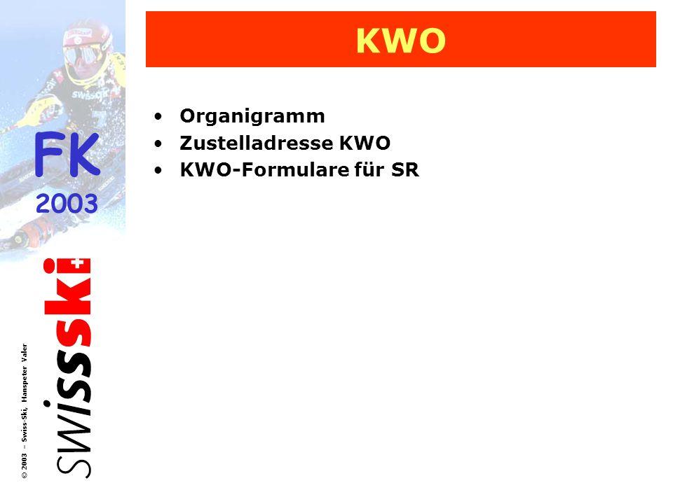 KWO Organigramm Zustelladresse KWO KWO-Formulare für SR