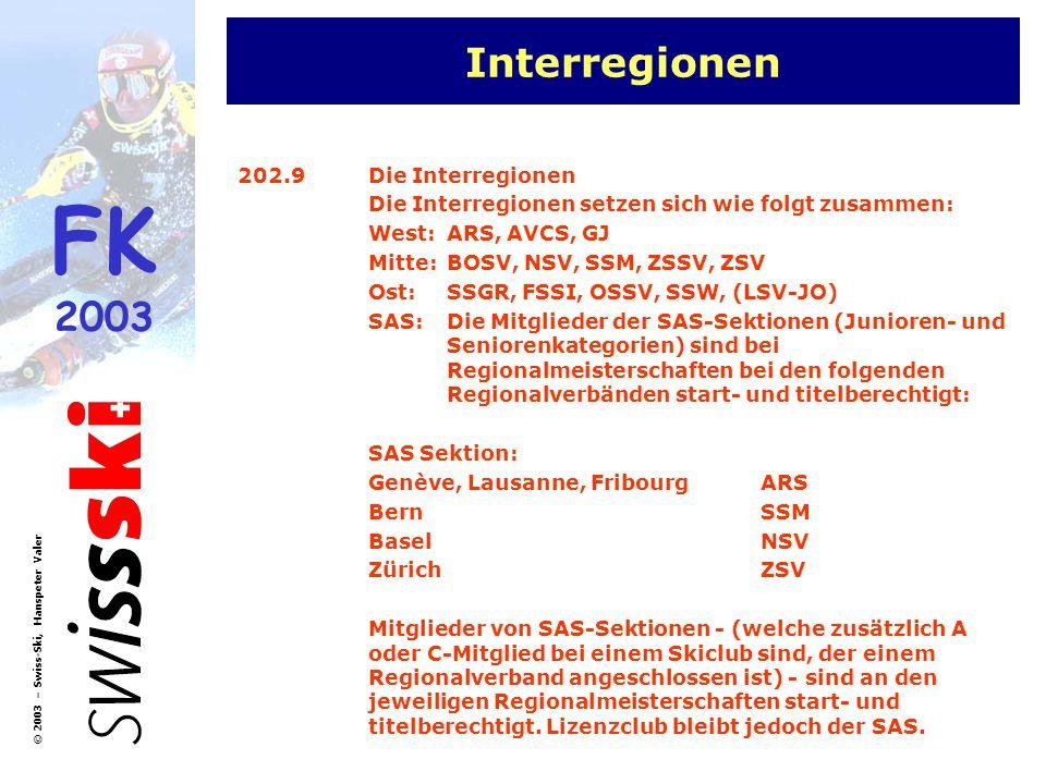 Interregionen 202.9 Die Interregionen