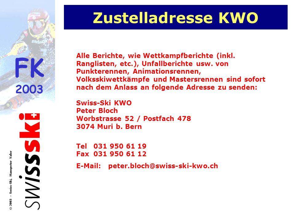 Zustelladresse KWO
