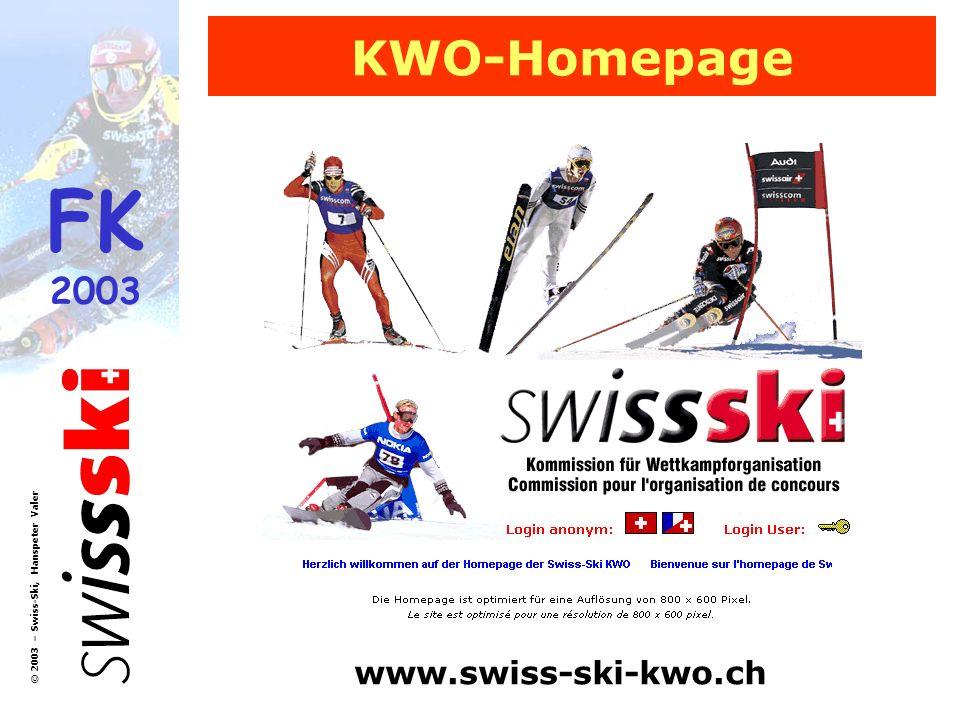 KWO-Homepage www.swiss-ski-kwo.ch