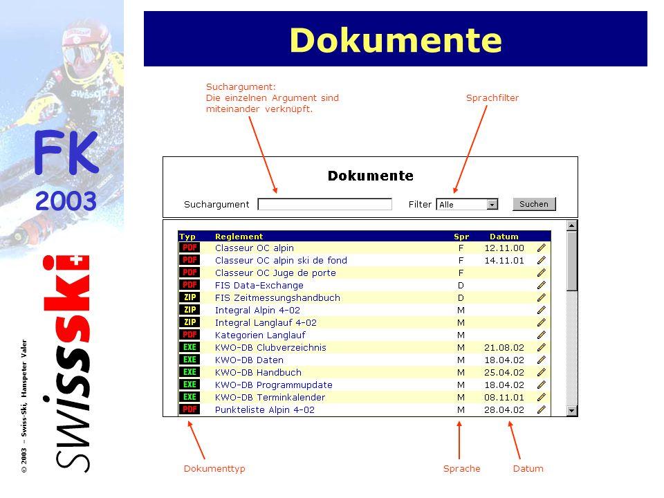 Dokumente Suchargument: Die einzelnen Argument sind miteinander verknüpft. Sprachfilter. Dokumenttyp.