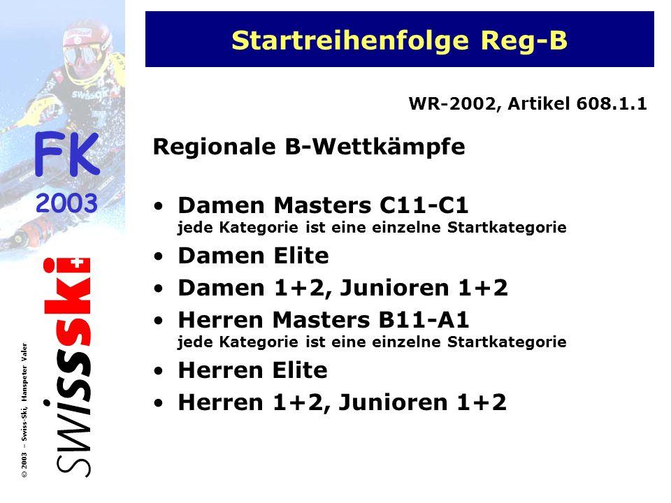 Startreihenfolge Reg-B
