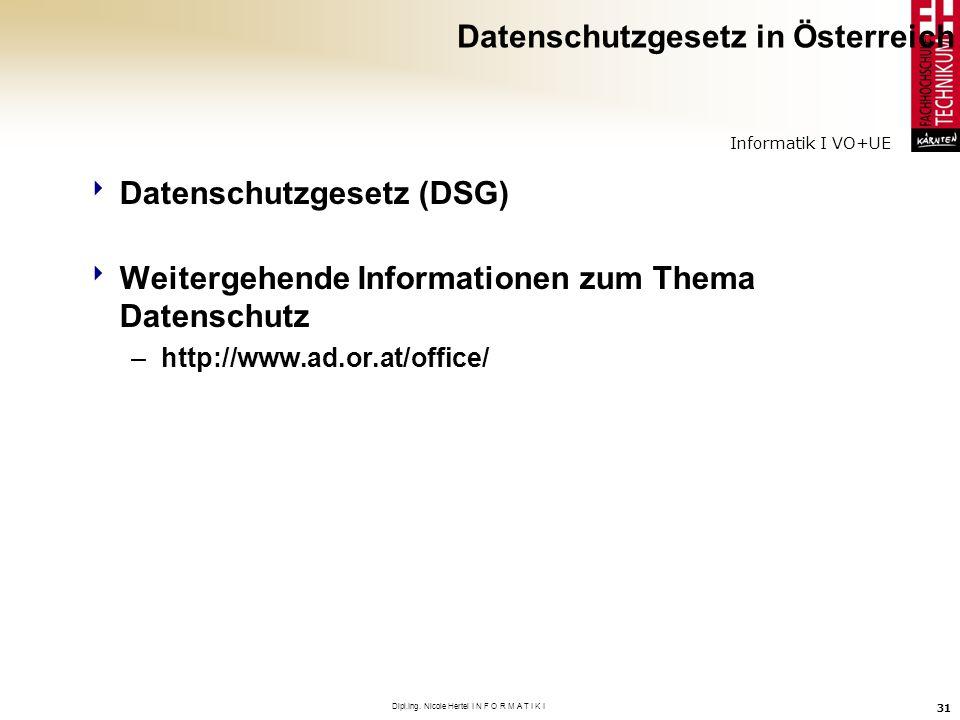 Datenschutzgesetz in Österreich
