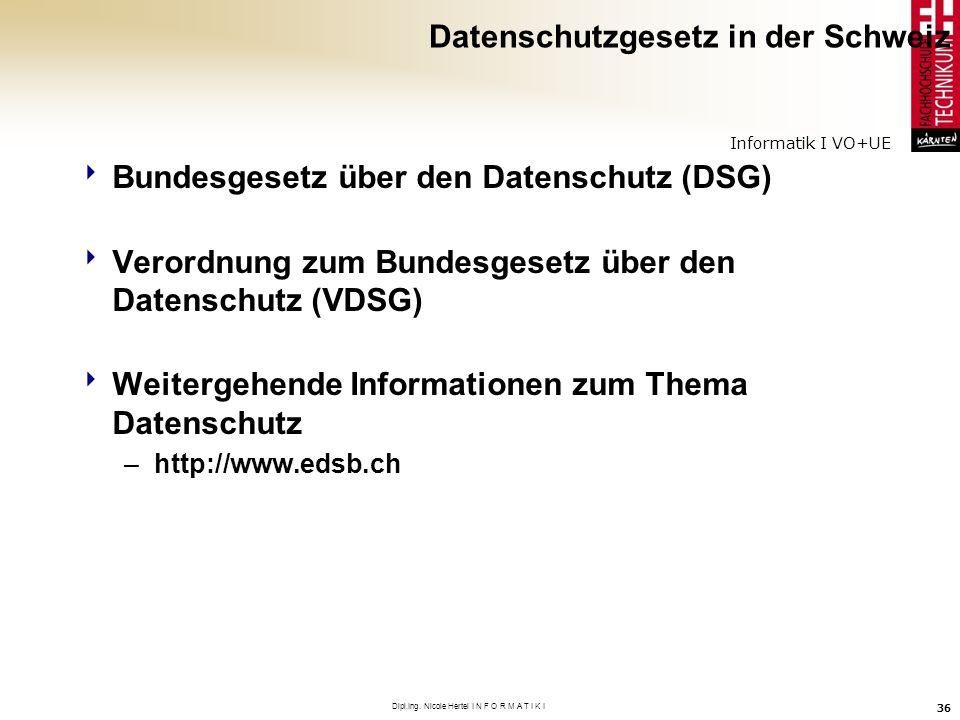 Datenschutzgesetz in der Schweiz