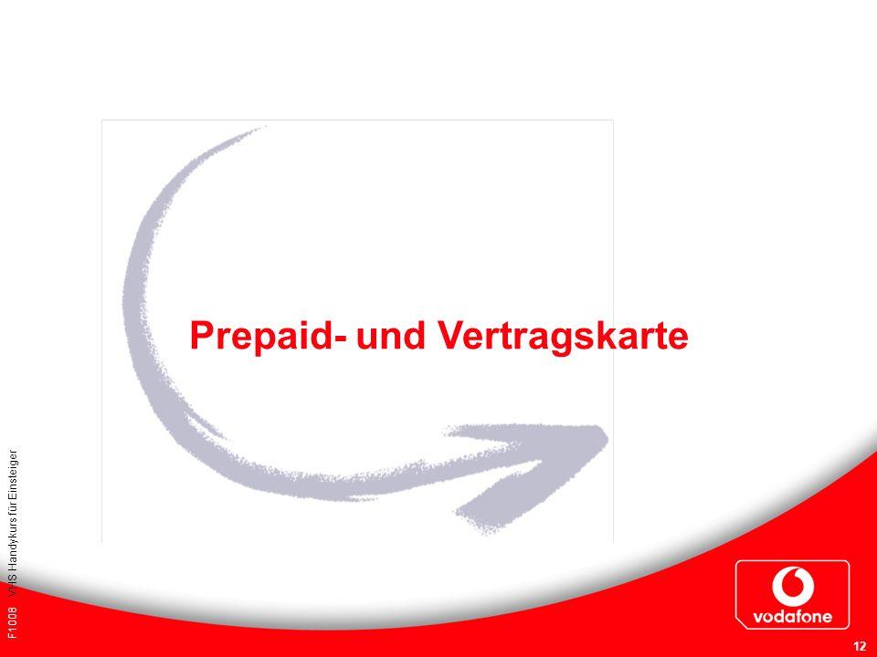 Prepaid- und Vertragskarte