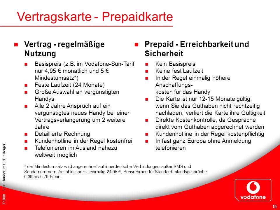 Vertragskarte - Prepaidkarte