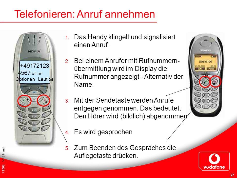 Telefonieren: Anruf annehmen