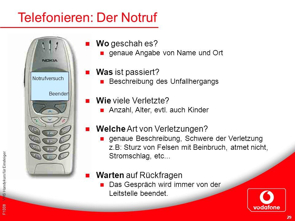 Telefonieren: Der Notruf