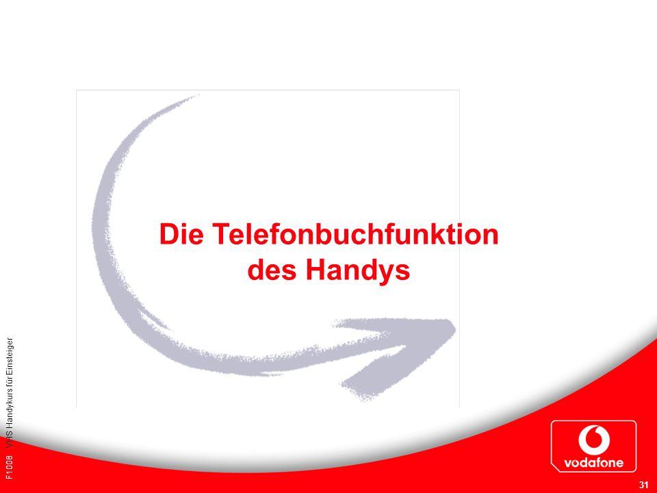 Die Telefonbuchfunktion des Handys