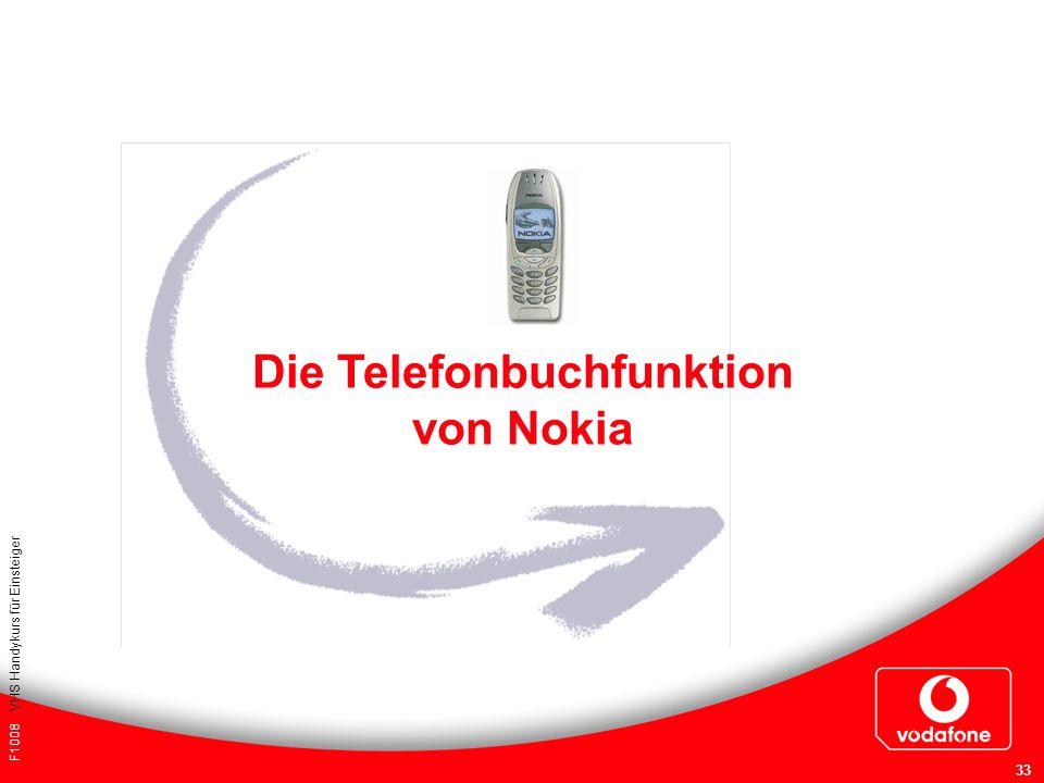 Die Telefonbuchfunktion von Nokia