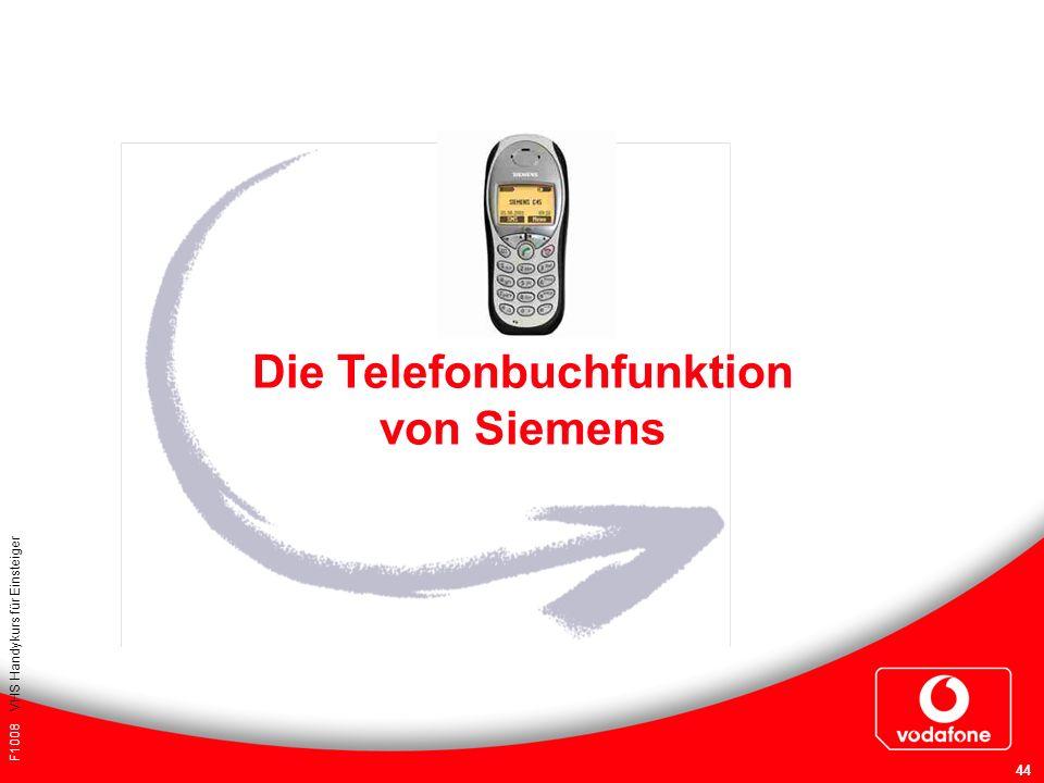 Die Telefonbuchfunktion von Siemens
