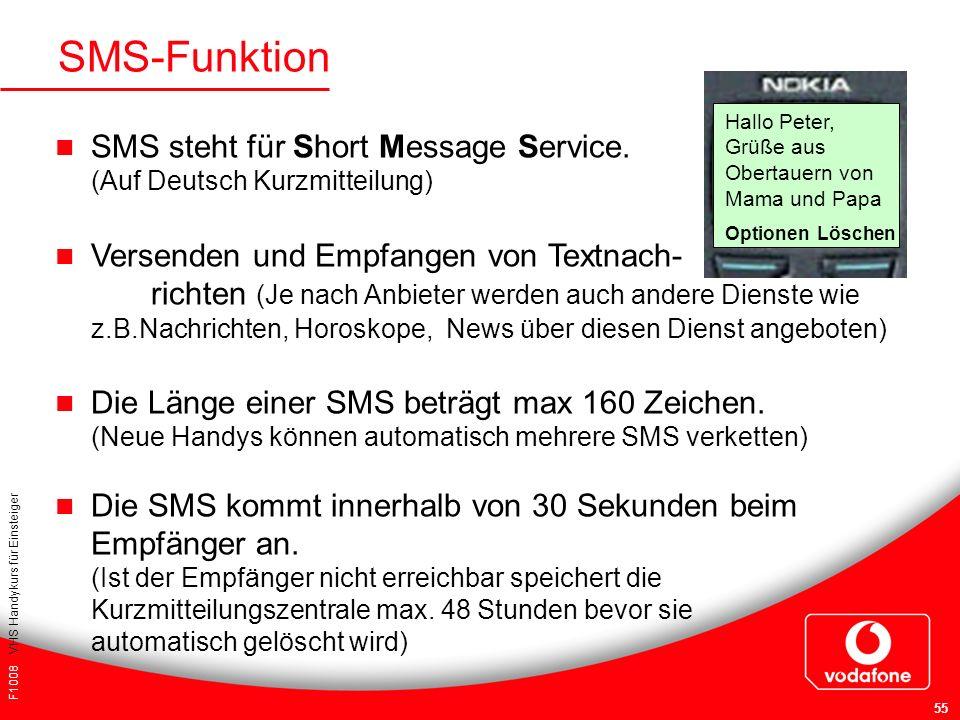SMS-Funktion Hallo Peter, Grüße aus Obertauern von Mama und Papa. Optionen Löschen.