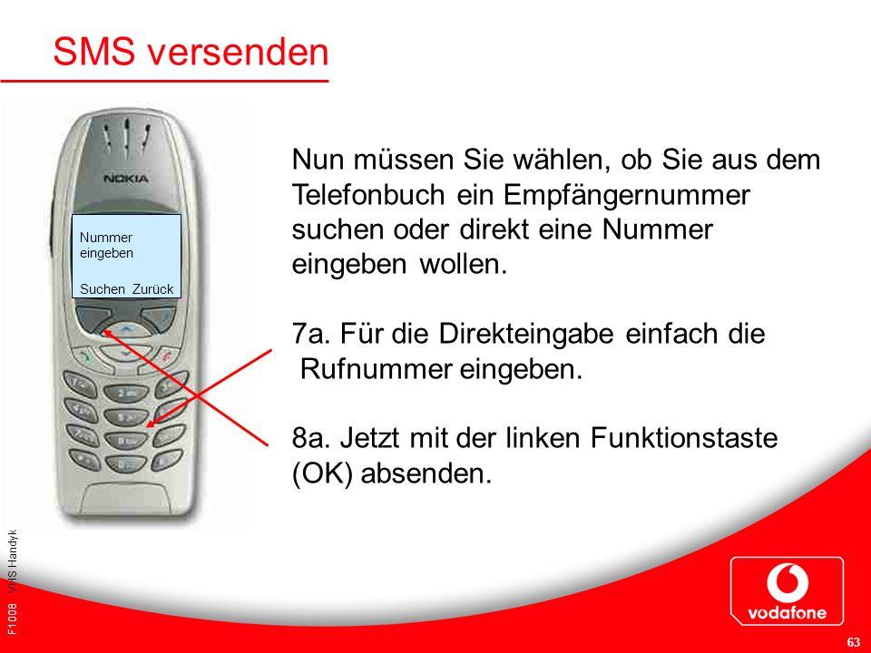 SMS versenden Nun müssen Sie wählen, ob Sie aus dem Telefonbuch ein Empfängernummer suchen oder direkt eine Nummer eingeben wollen.