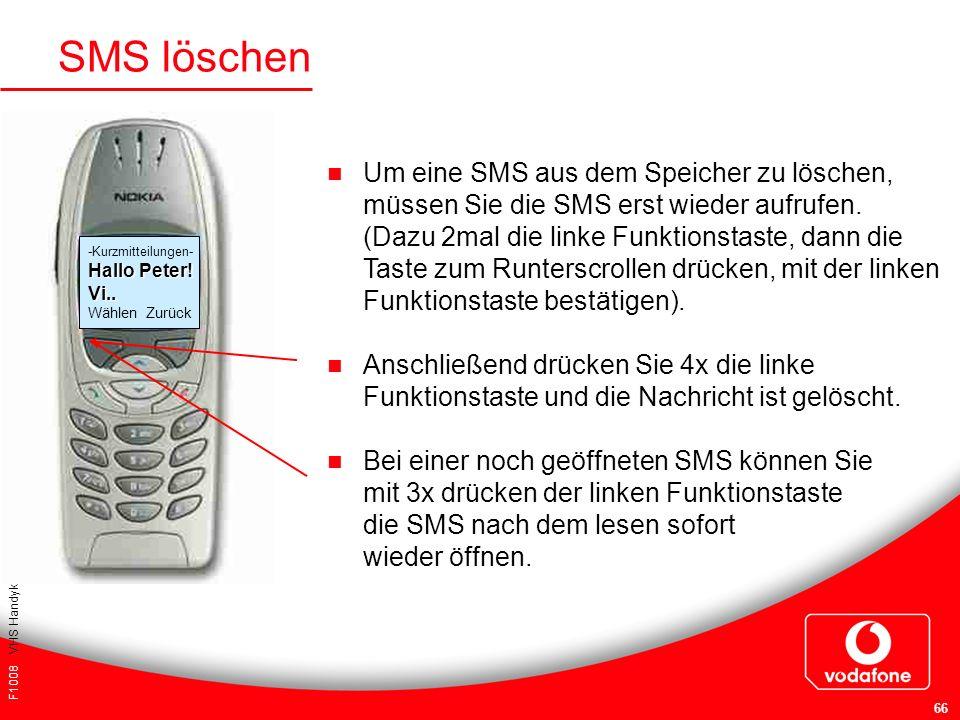 SMS löschen