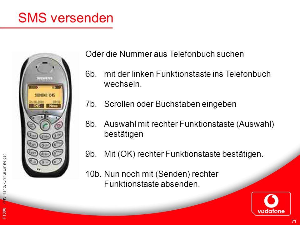 SMS versenden Oder die Nummer aus Telefonbuch suchen