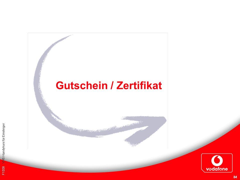 Gutschein / Zertifikat