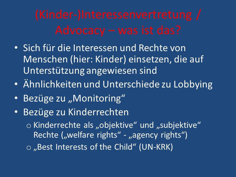 (Kinder-)Interessenvertretung / Advocacy – was ist das